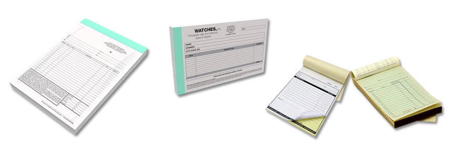 receipt book invoice book carbonless form printing services
