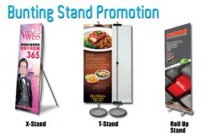 bunting stand printing promotion image
