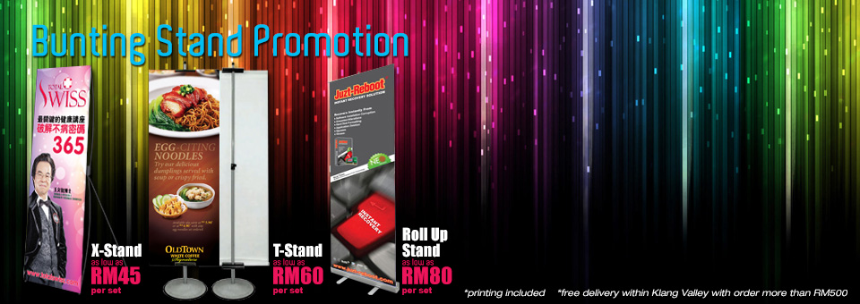 Bunting Printing with Stand Promotion