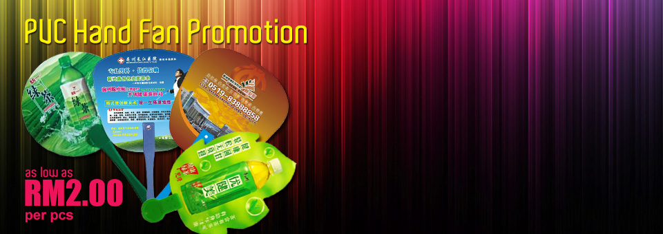 PVC Hand Fan Promotion as Low as RM2.00 per pcs