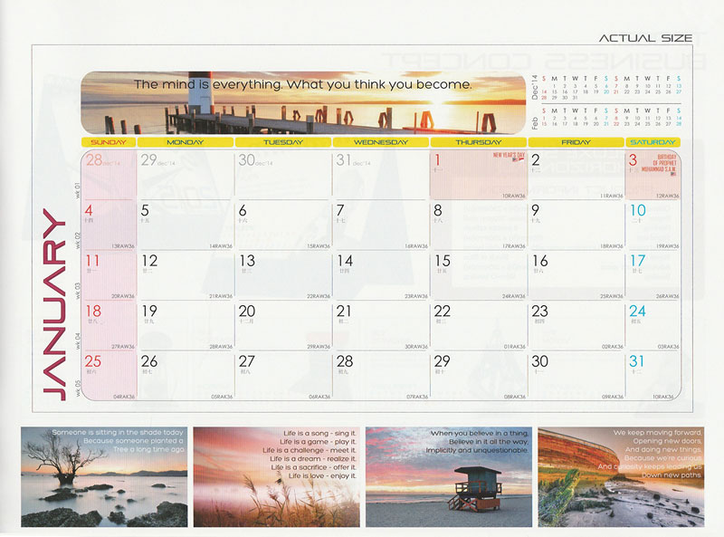 Ready Made Desktop Calender Printing Services 04