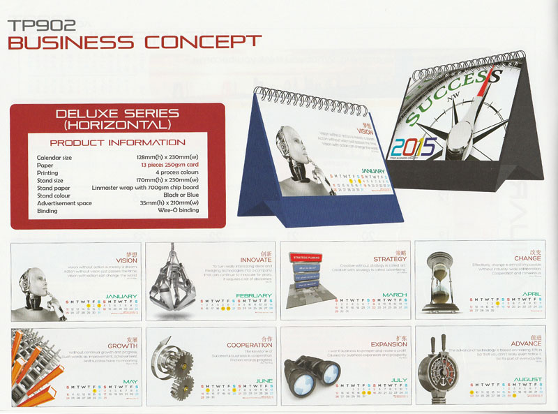Ready Made Desktop Calender Printing Services 05