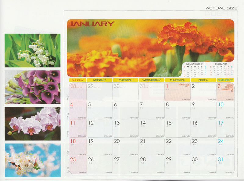 Ready Made Desktop Calender Printing Services 08