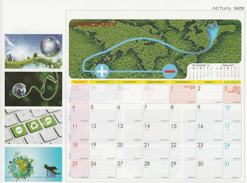 Ready Made Desktop Calender Printing Services 10