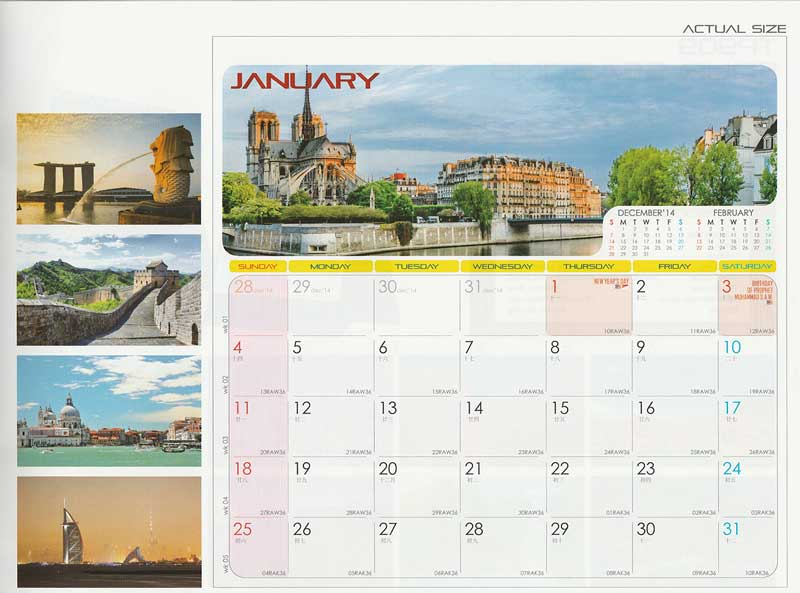 Ready Made Desktop Calender Printing Services 18